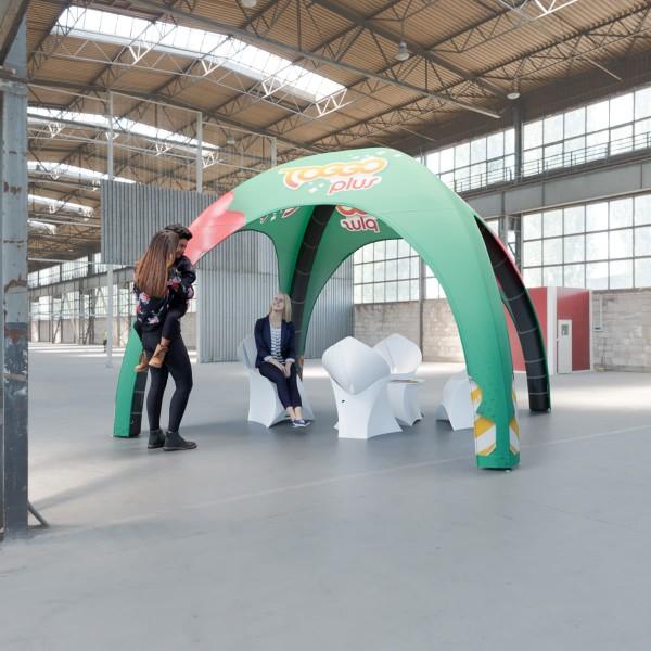 Aufblasbares Zelt BlowUp Airtent Premium 3x3