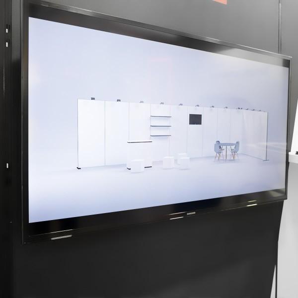 Monitorhalterung für Traversensystem