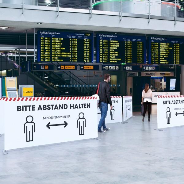 Hygienewand Personenleitsystem Expo Vario