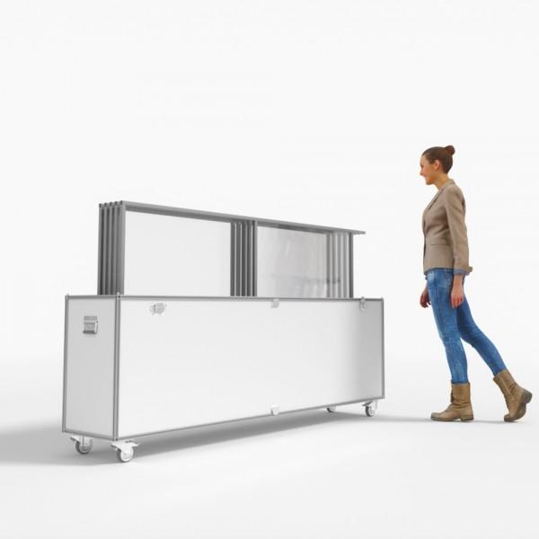 Transportcase passend für Hygieneaufsteller Schutzwand Protect