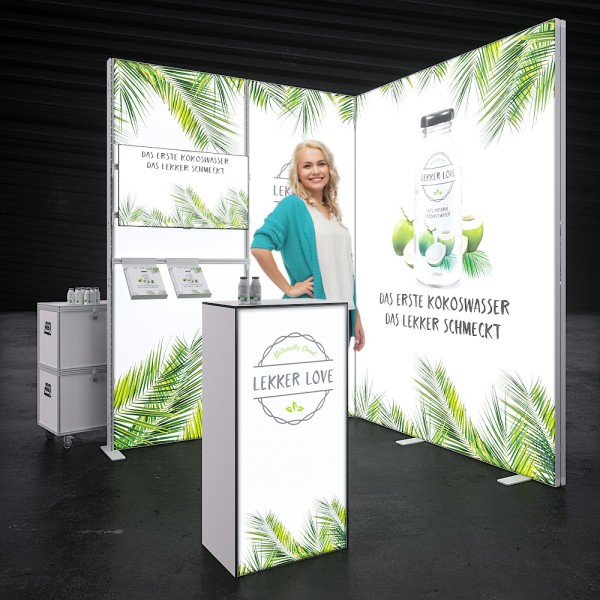 LED Messestand MOVE - Fulda 2 x 2 m