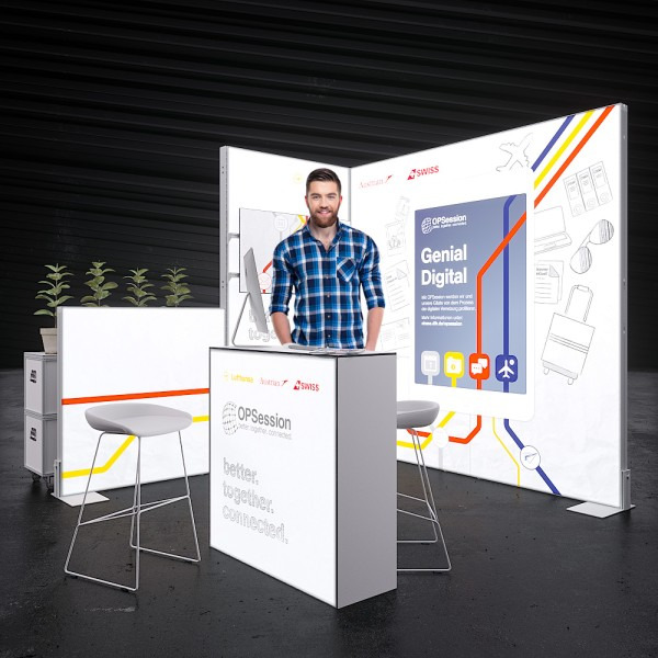 LED Messestand Quick 11