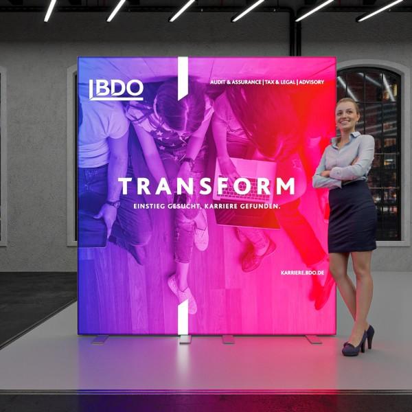 Messewand LED One B 200 x H 215 cm