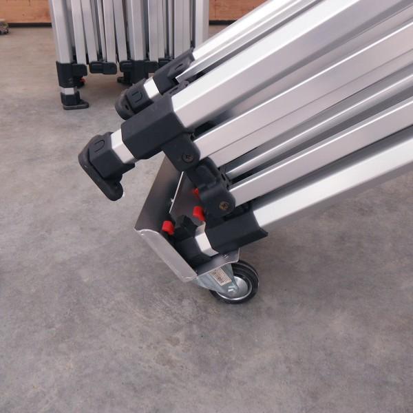Rollenadapter für Transporttasche eines Zelts
