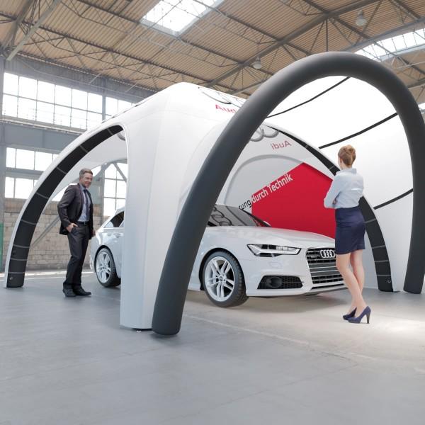 Aufblasbares Zelt BlowUp mit Vordach Airtent Premium 5x5