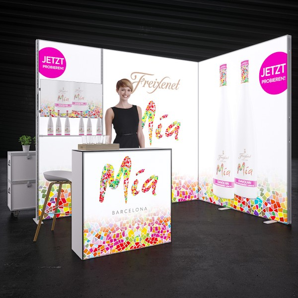 LED Messestand Quick 4