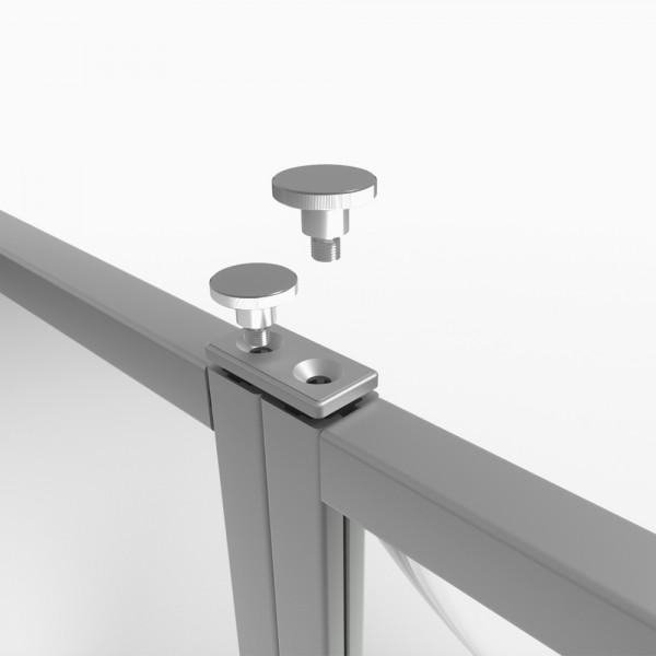 Modulverbinder passend für Hygieneaufsteller Schutzwand Protect